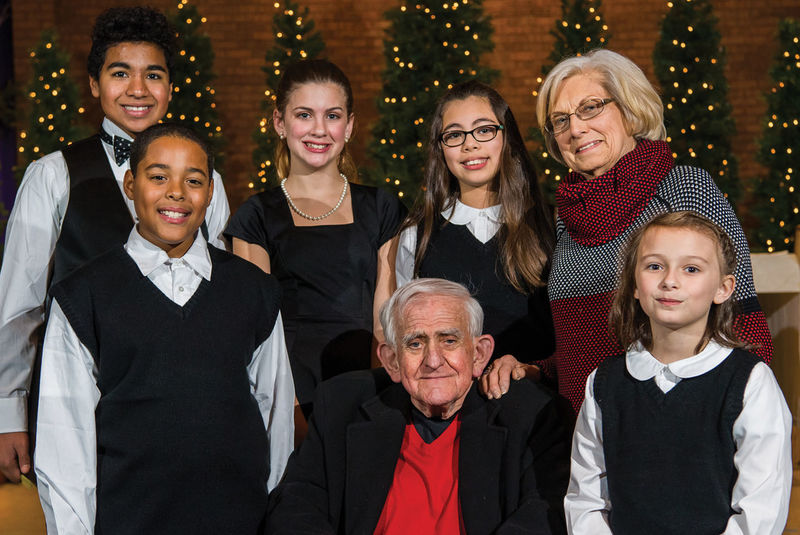 Bill and Martha Hilbert recently affirmed their commitment to the Young People's Chorus