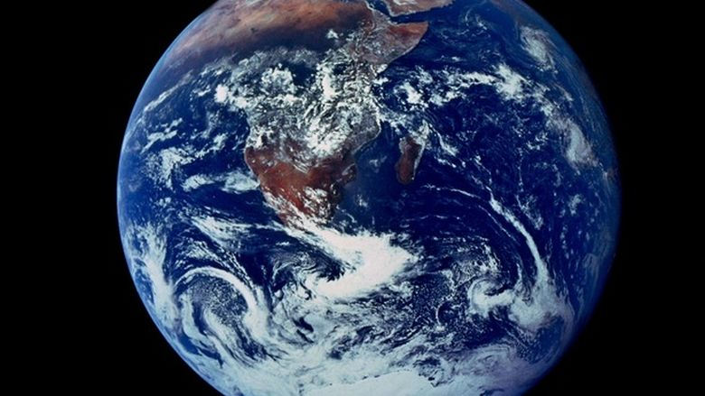 A photo of Earth taken from space in 1972.