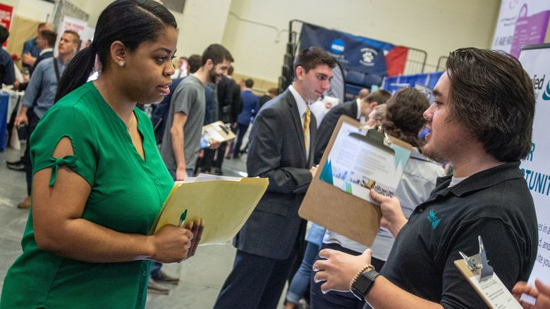 A total of 21 new companies were in attendance at Penn State Behrend's Fall Career and Internship Fair.