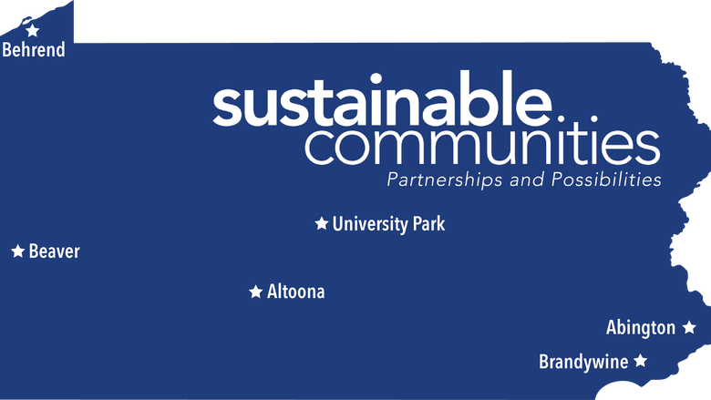 Map of Sustainable Communities programs at Penn State campuses