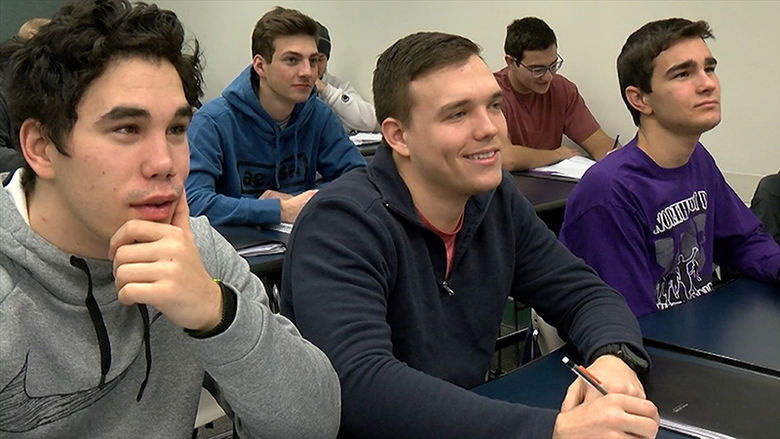 Penn State Behrend students attend a class in the Arts Administration major.
