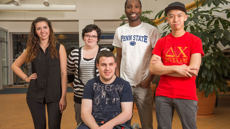 Diverse Population of Behrend students pictured.