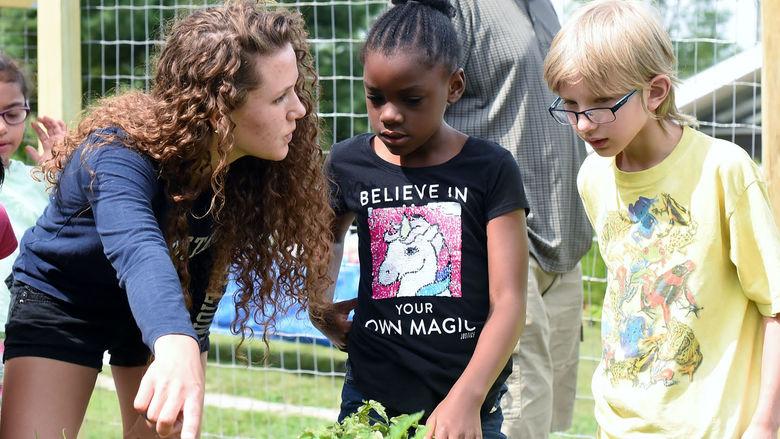 Student garden pictured.