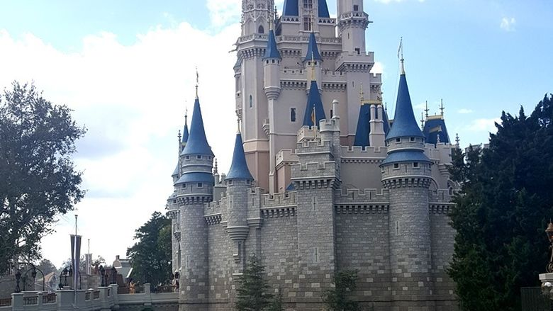 Disney Castle pictured.