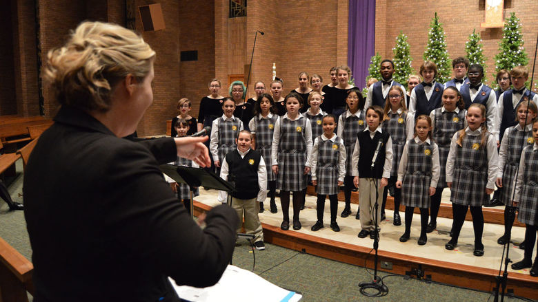 Choristers of YPC Erie perform during the annual holiday concert.