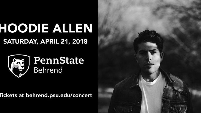 Concert graphic for Hoodie Allen.