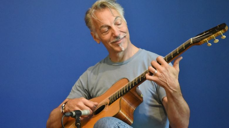 A musician performs during Music at Noon: The Logan Series at Penn State Behrend.