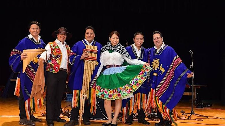 A group photo of the performance group Inca Son