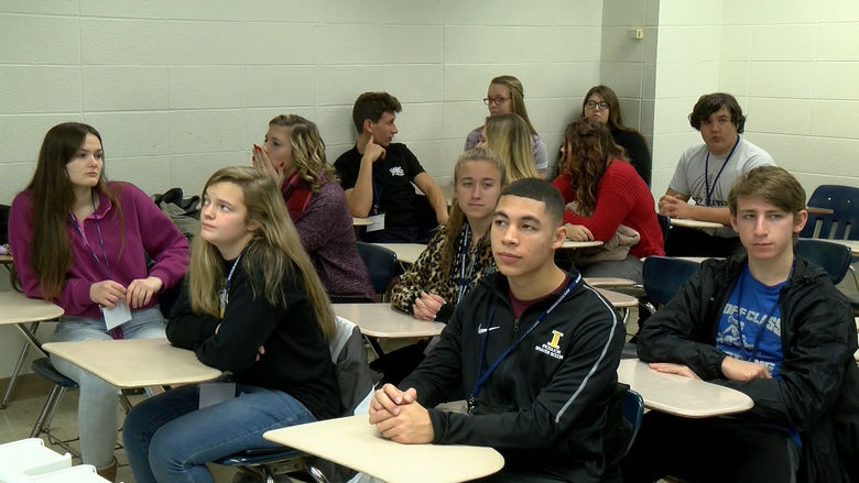 Students studying Secondary Education in Mathematics at Penn State Behrend attend a class.