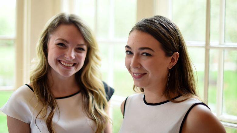 Penn State Behrend students Nicole Krahe and Olivia Narciso