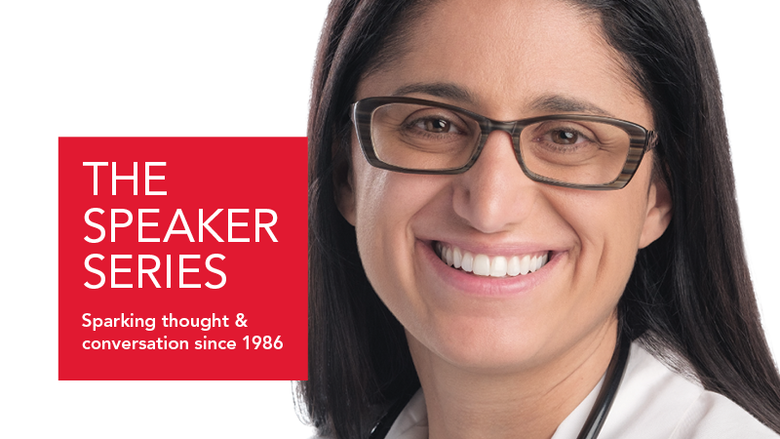 A graphic featuring Dr. Mona Hanna-Attisha, who exposed the Flint water crisis.