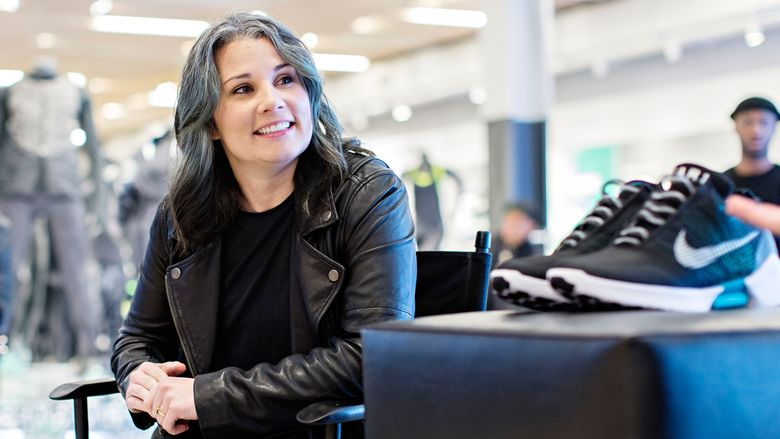 A portrait of Tiffany Beers, a senior innovator at Nike.