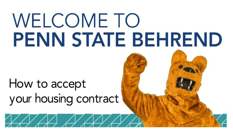 How to Accept Your Housing Contract