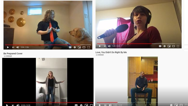 Four Penn State Behrend students perform in clips from You Tube.