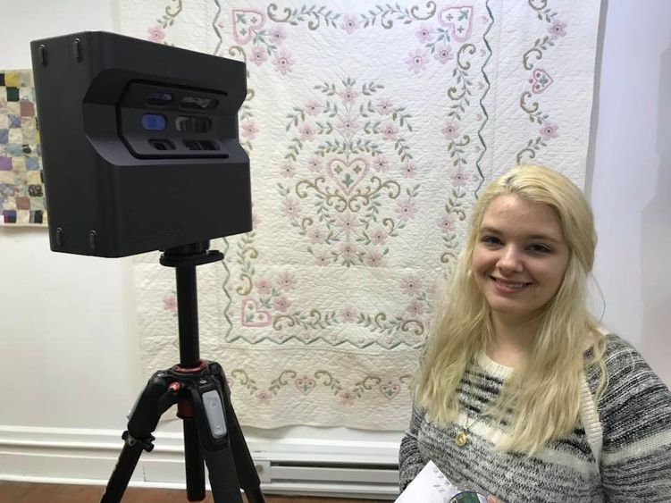 """The Many Threads of Quilting,"" a quilt exhibition that opened April 28 at the Erie Art Gallery, served as the senior capstone project for Victoria Alcorn, who graduated this month from Penn State Behrend with a degree in arts administration."