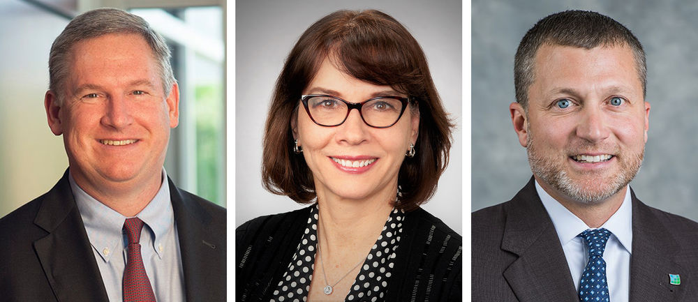 Portraits of the three new members of the board of directors for Penn State Behrend's Council of Fellows