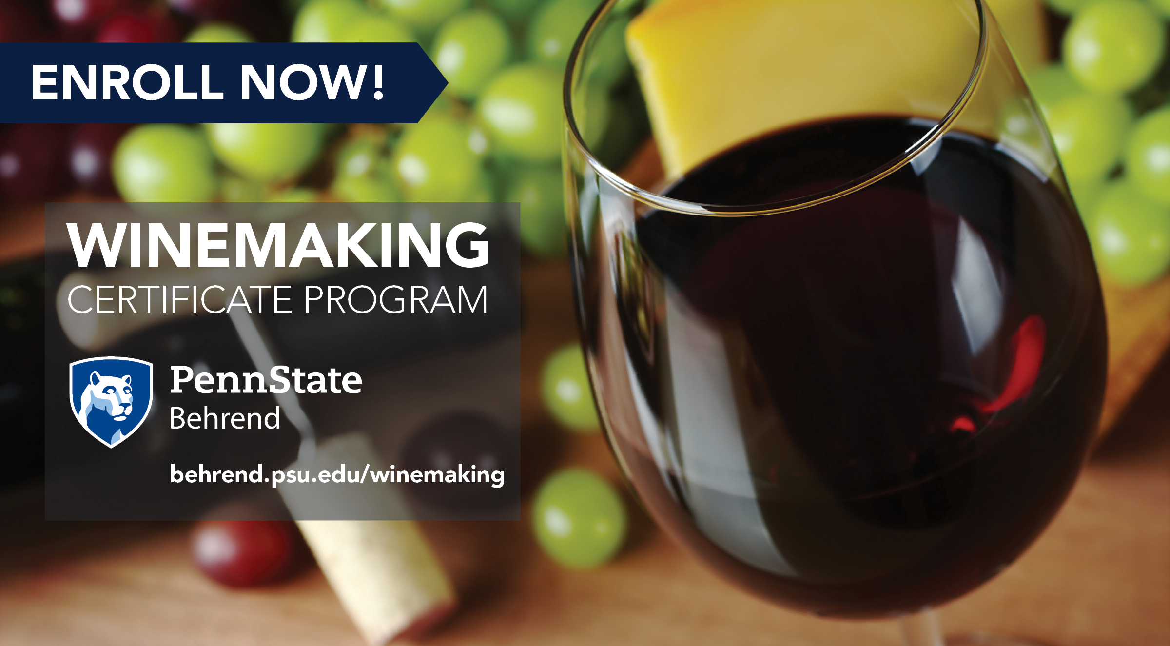 Registration is now open for the Winemaking Certificate Series at Penn State Behrend.